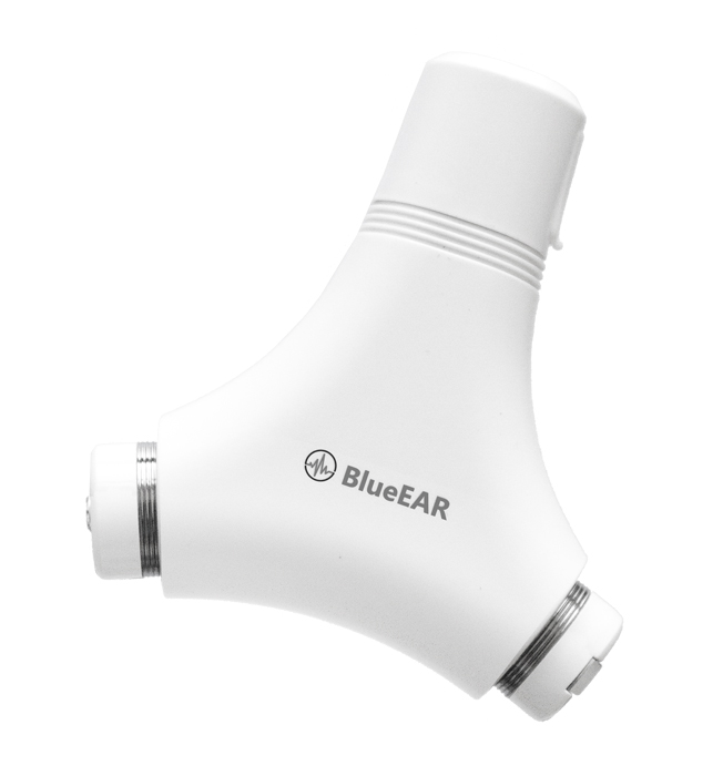 Bezdrátová bluetooth stereo sluchátka, bílé