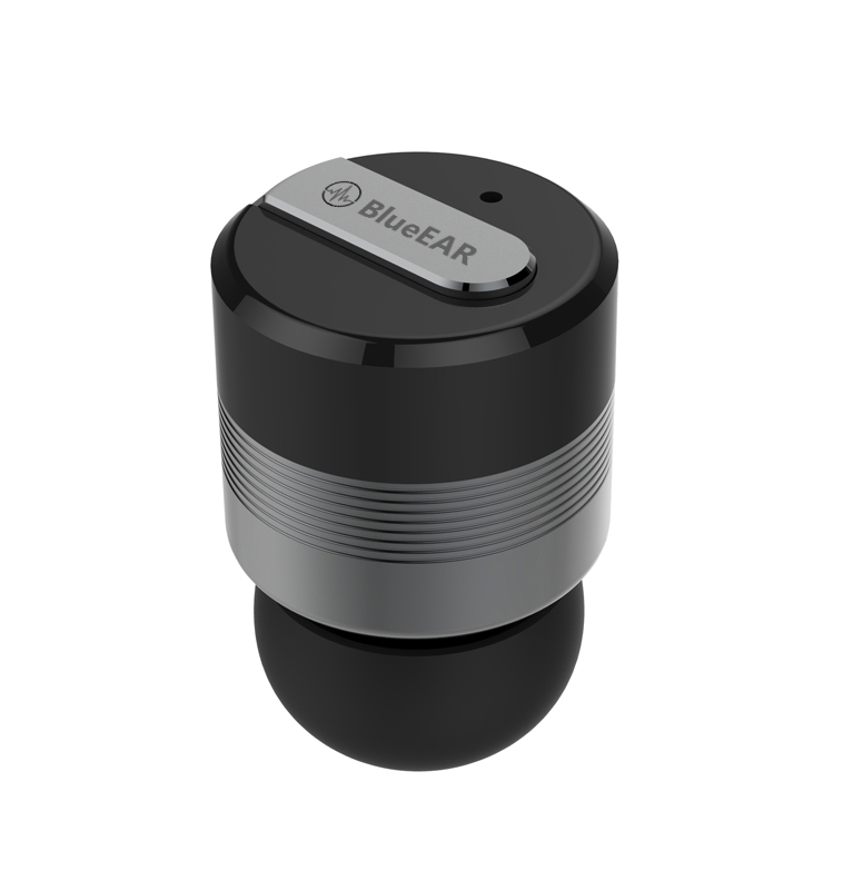 Bezdrátová bluetooth stereo sluchátka, metalicky šedá-2