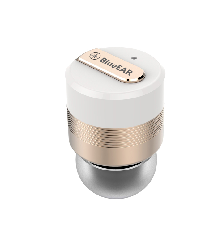 Bezdrátová bluetooth sluchátka s powerbankou, zlaté-2