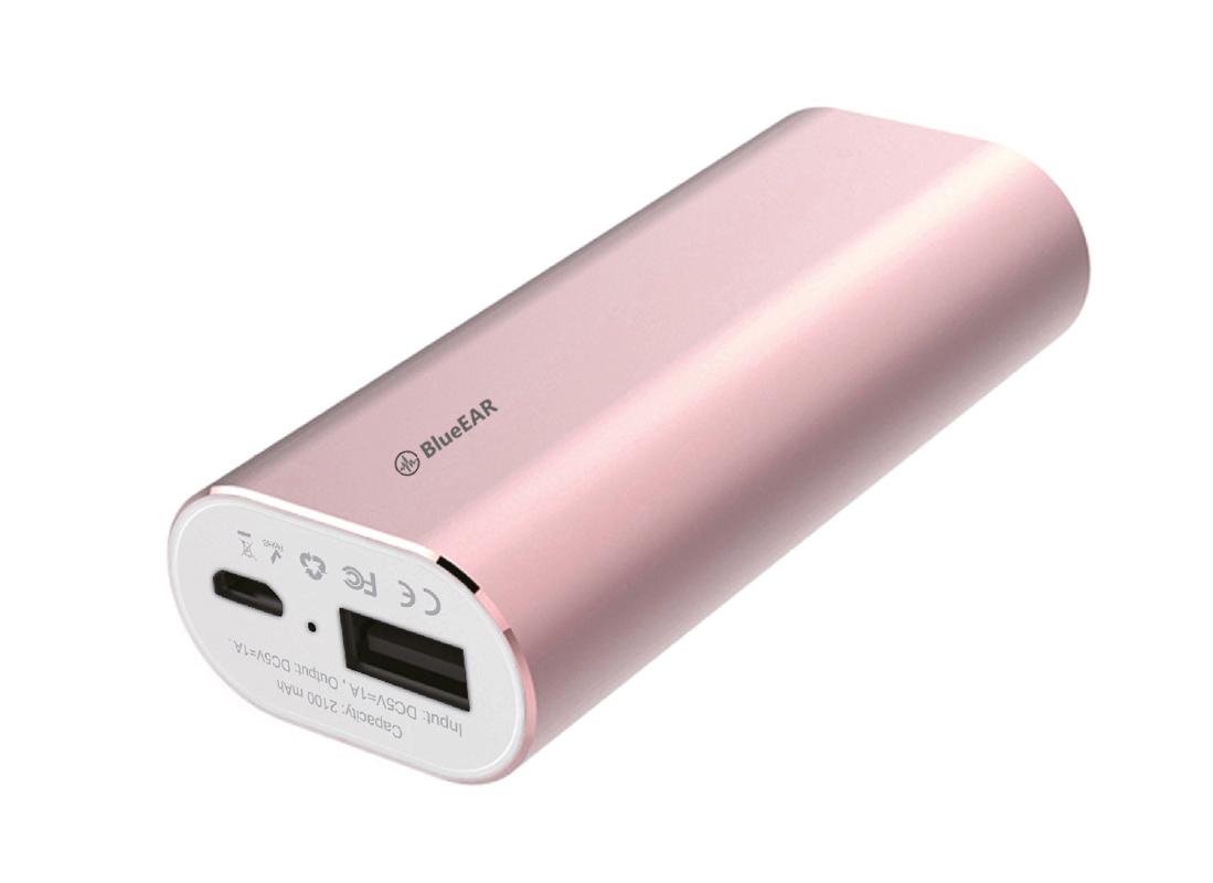 Bezdrátová bluetooth sluchátka s powerbankou, růžové-1