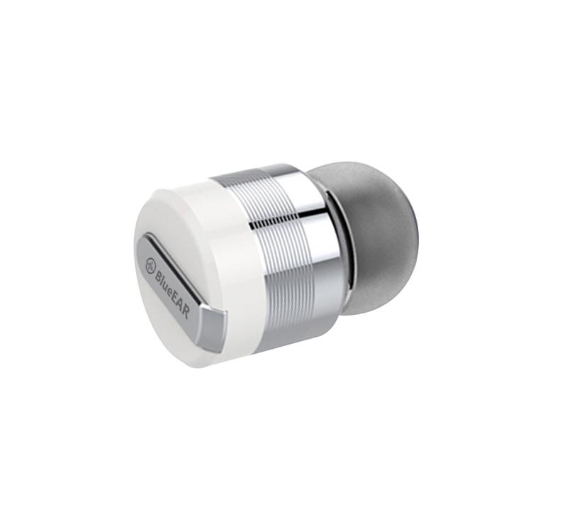 Bezdrátová bluetooth sluchátka s powerbankou, stříbrné-3