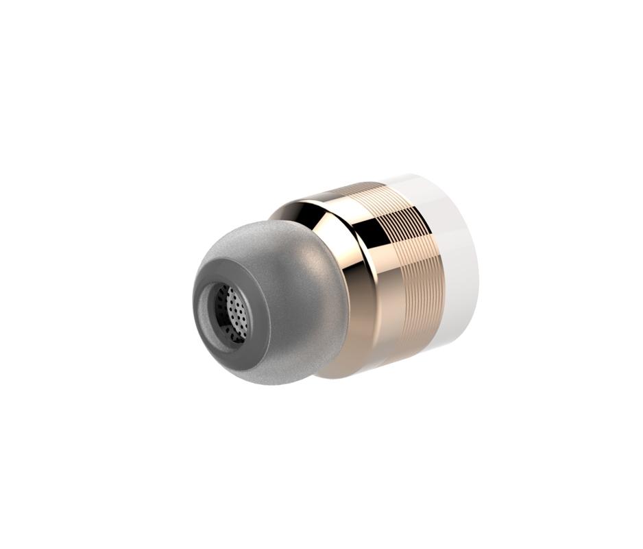 Bezdrátová bluetooth stereo sluchátka, zlaté-3